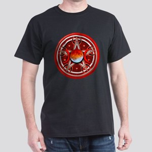 Red Triple Goddess Pentacle Dark T-Shirt