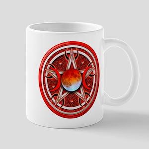 Red Triple Goddess Pentacle Mug