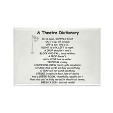 A Theatre Dictionary Rectangle Magnet