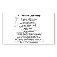 A Theatre Dictionary Sticker (Rectangle)