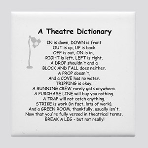 A Theatre Dictionary Tile Coaster
