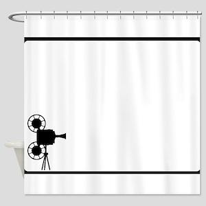 Movie Cine Projector Backdrop Shower Curtain