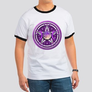 Purple Triple Goddess Pentacle Ringer T