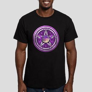 Purple Triple Goddess Pentacle Men's Fitted T-Shir