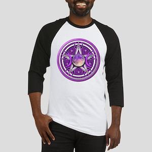 Purple Triple Goddess Pentacle Baseball Jersey