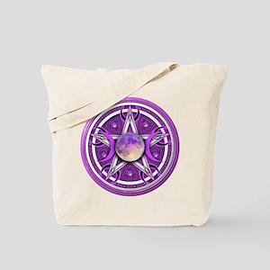 Purple Triple Goddess Pentacle Tote Bag