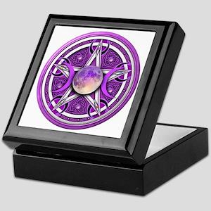 Purple Triple Goddess Pentacle Keepsake Box
