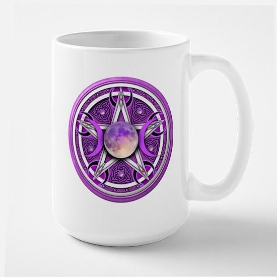 Purple Triple Goddess Pentacle Large Mug