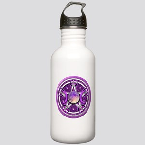 Purple Triple Goddess Pentacle Stainless Water Bot
