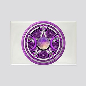 Purple Triple Goddess Pentacle Rectangle Magnet