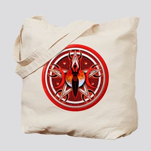 Pentacle of the Red Goddess Tote Bag