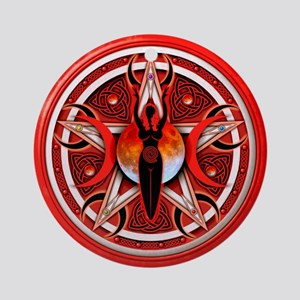 Pentacle of the Red Goddess Ornament (Round)