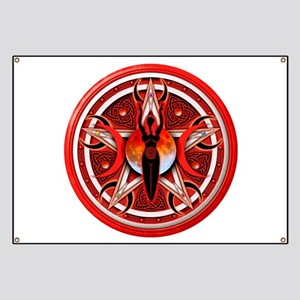 Pentacle of the Red Goddess Banner