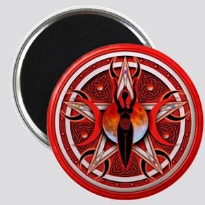 Pentacle of the Red Goddess Magnet