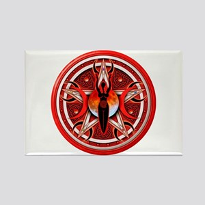 Pentacle of the Red Goddess Rectangle Magnet