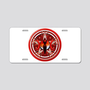 Pentacle of the Red Goddess Aluminum License Plate