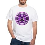 Pentacle of the Purple Goddess White T-Shirt