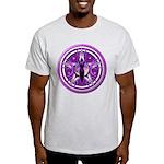 Pentacle of the Purple Goddess Light T-Shirt