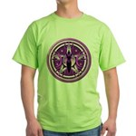 Pentacle of the Purple Goddess Green T-Shirt