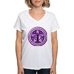 Pentacle of the Purple Goddess Women's V-Neck T-Sh