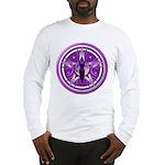 Pentacle of the Purple Goddess Long Sleeve T-Shirt