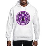 Pentacle of the Purple Goddess Hooded Sweatshirt