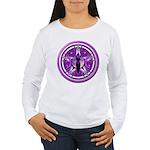 Pentacle of the Purple Goddess Women's Long Sleeve