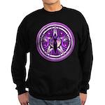 Pentacle of the Purple Goddess Sweatshirt (dark)