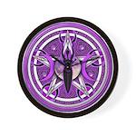 Pentacle of the Purple Goddess Wall Clock