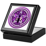Pentacle of the Purple Goddess Keepsake Box
