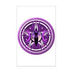 Pentacle of the Purple Goddess Mini Poster Print