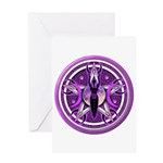 Pentacle of the Purple Goddess Greeting Card