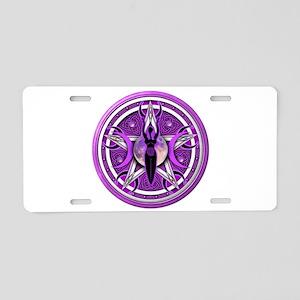 Pentacle of the Purple Goddess Aluminum License Pl