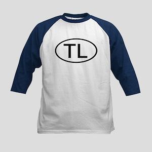 TL - Initial Oval Kids Baseball Jersey