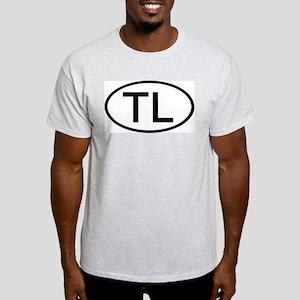 TL - Initial Oval Ash Grey T-Shirt