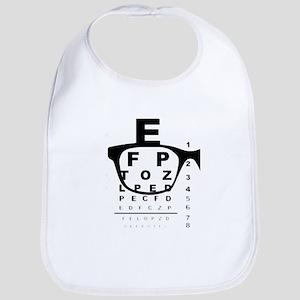 Blurry Eye Test Chart Baby Bib