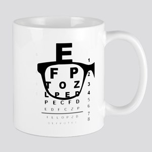 Blurry Eye Test Chart Mugs