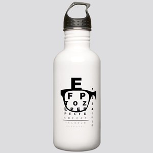 Blurry Eye Test Chart Stainless Water Bottle 1.0L