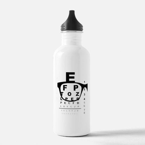 Blurry Eye Test Chart Water Bottle