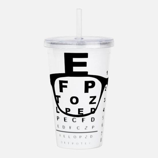 Blurry Eye Test Chart Acrylic Double-wall Tumbler