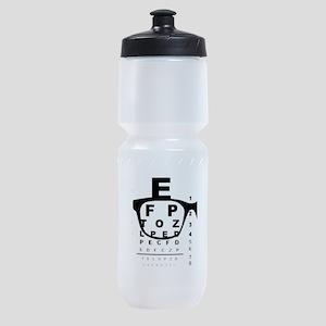 Blurry Eye Test Chart Sports Bottle