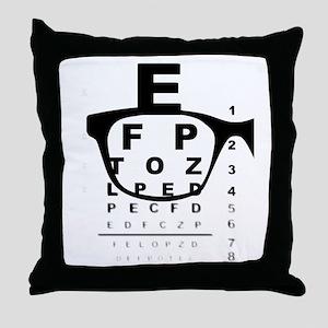 Blurry Eye Test Chart Throw Pillow