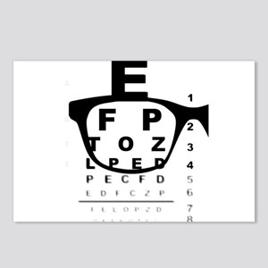 Blurry Eye Test Chart Postcards (Package of 8)