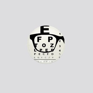 Blurry Eye Test Chart Mini Button