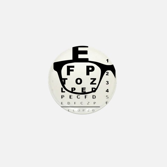 Blurry Eye Test Chart Mini Button