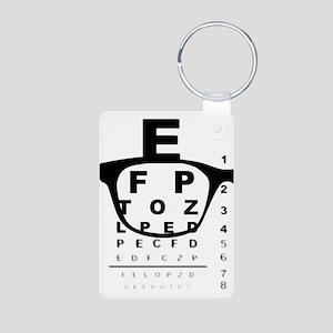 Blurry Eye Test Chart Keychains