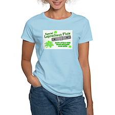Special Leprechaun Flute Women's Pink T-Shirt