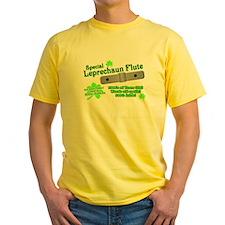 Special Leprechaun Flute Yellow T-Shirt