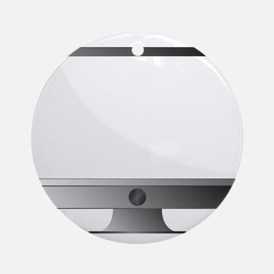Modern Computer With Copy Space Round Ornament