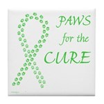 Lime Paws Cure Tile Coaster